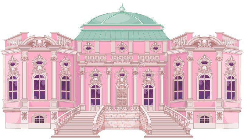 Palais romantique pour une princesse illustration de vecteur
