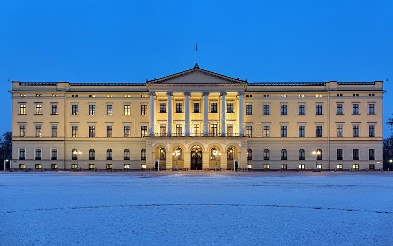 Palais royal à Oslo photos libres de droits