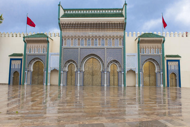 Palais royal dans Fes, Marocco photos libres de droits