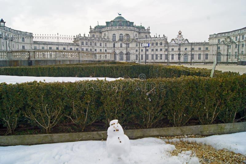 Palais royal de Stupingi de pavillon de chasse de l'Italie Turin de dynastie de la Savoie photographie stock