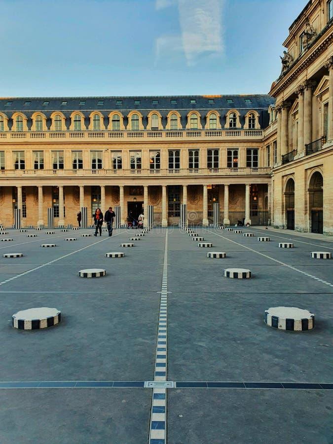 Palais royal, a famous tourist attraction in Paris, France stock photo