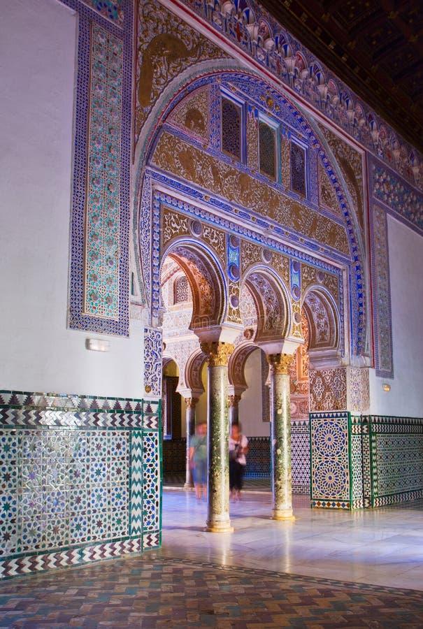 Palais royal, Séville, Espagne photographie stock libre de droits