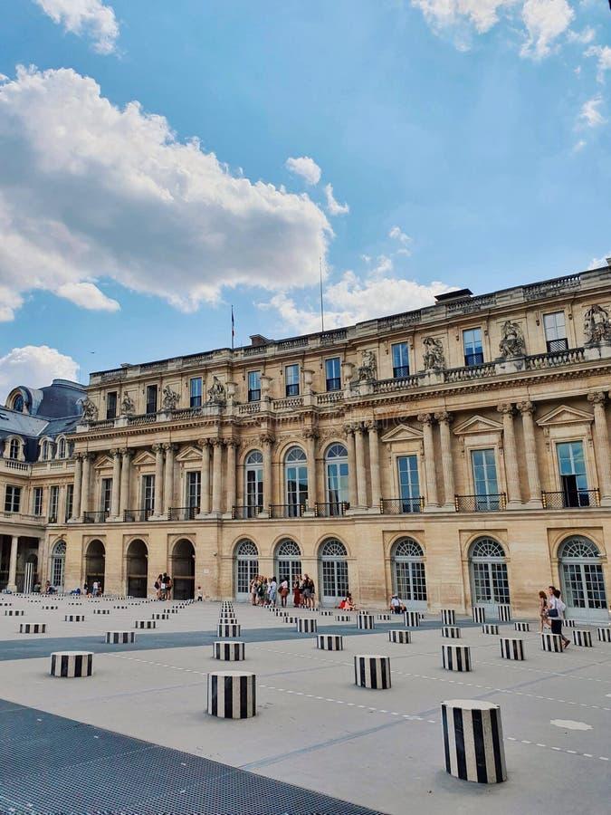 Palais royal, tourist attraction in Paris, France. Palais royal, tourist attraction in Paris stock images