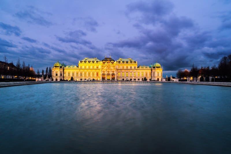 Palais supérieur dans le belvédère complexe historique, Vienne photos libres de droits