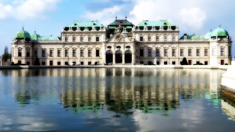 Palais supérieur de belvédère, Vienne images libres de droits