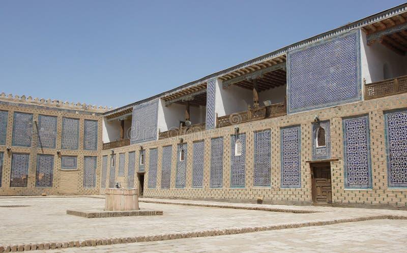 Palais Toshxovli, Khiva, l'Ouzbékistan image libre de droits