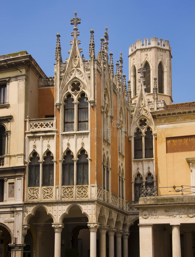Palais vénitien à Padoue photos libres de droits