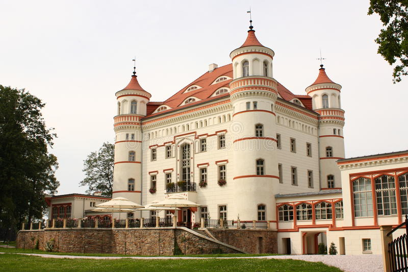 Palais Wojanow près de Jelenia Gora (Pologne) photographie stock