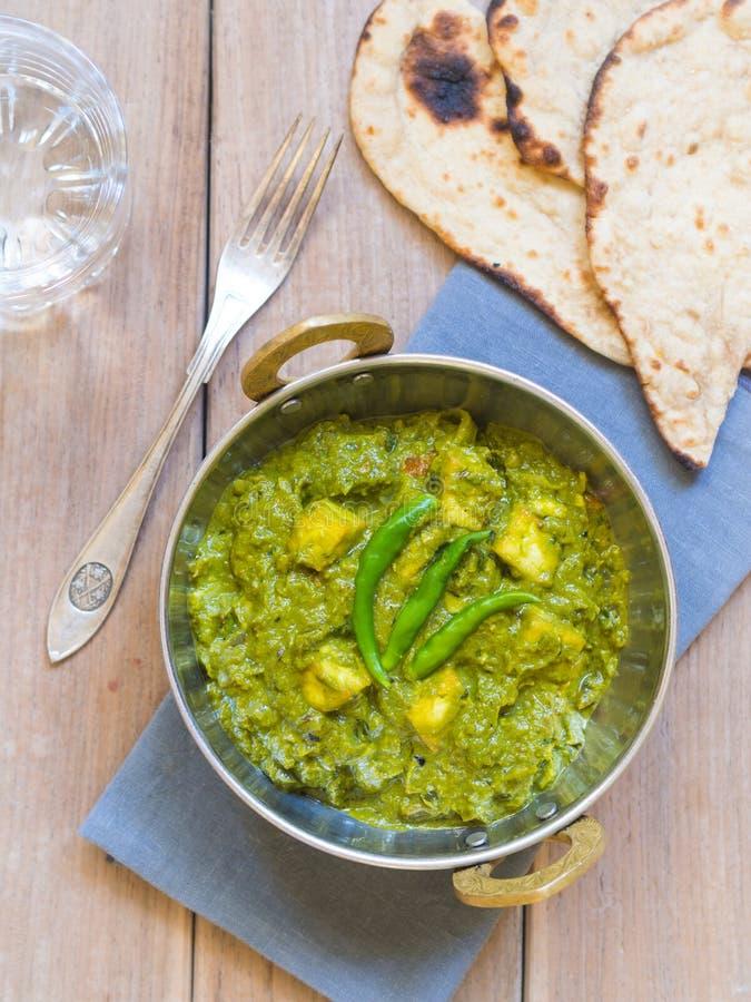 Palak paneer (Indische keuken) royalty-vrije stock afbeelding