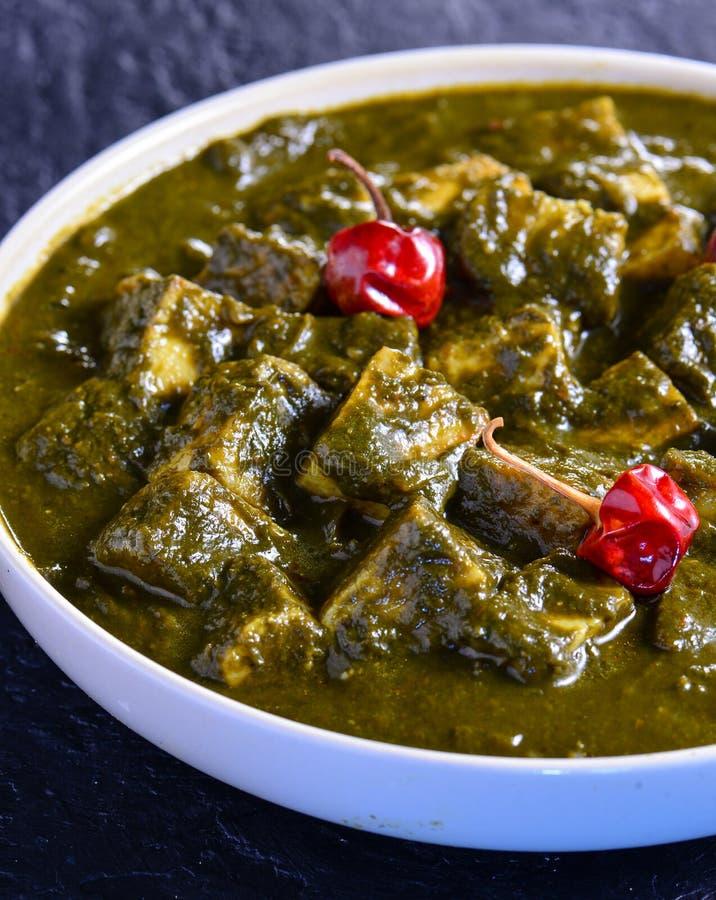 Palak Paneer -Traditional Punjabi vegetarian saag stock photos
