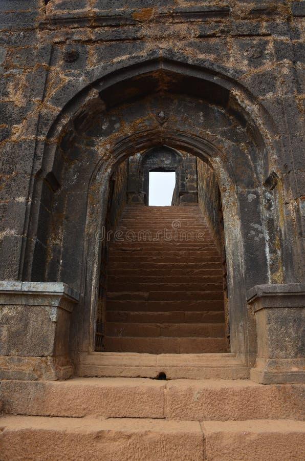 Palakhi форта Raigad dwar стоковое изображение