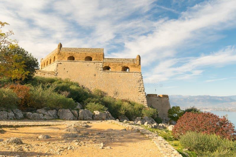Palamidi castle at Nafplio in Greece landscape. stock image