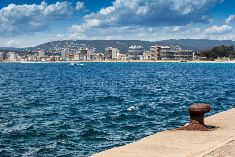 Download Palamos port stock photo. Image of tourism, cloud, wave - 24778402