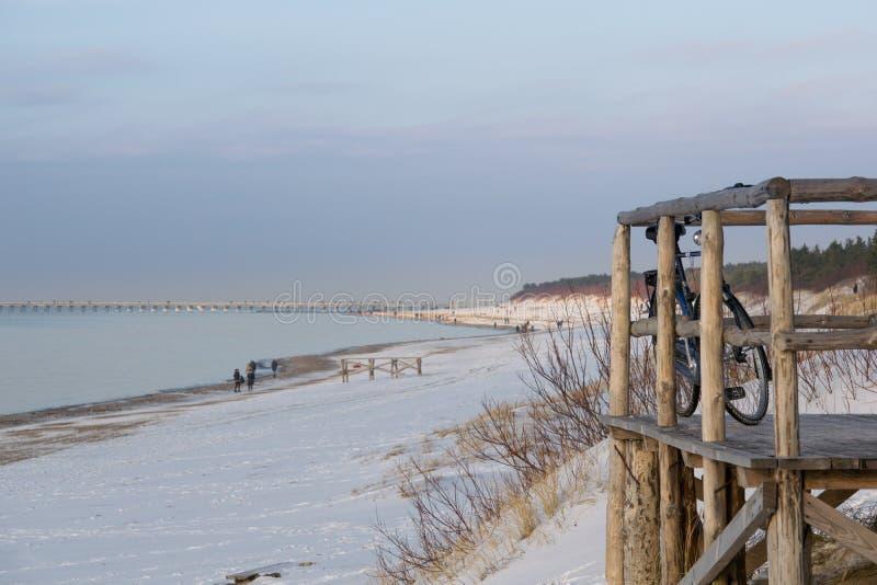 Palanga beach in winter royalty free stock photo