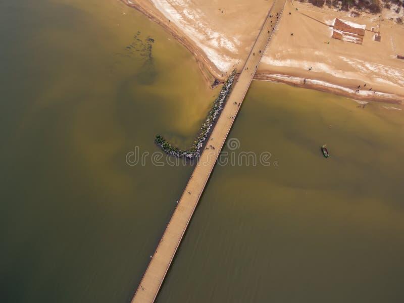 Palanga, Litauen: von der Luftdraufsicht der Seebrücke lizenzfreies stockfoto