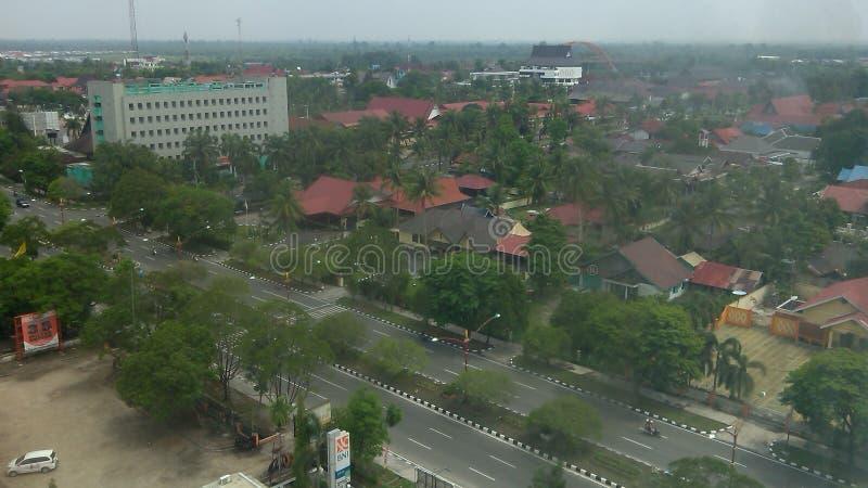 Palangka Raya City. Palangkaraya city views from the top of the building royalty free stock photos
