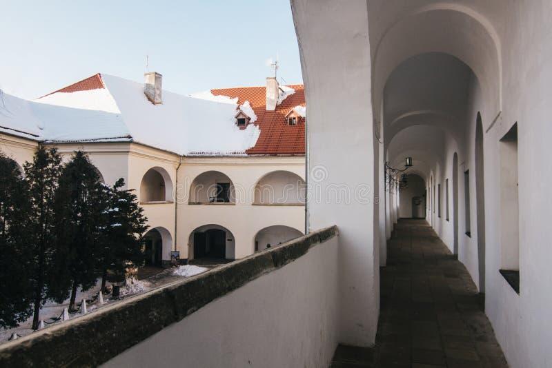 Palanok城堡围场分层了堆积 库存图片