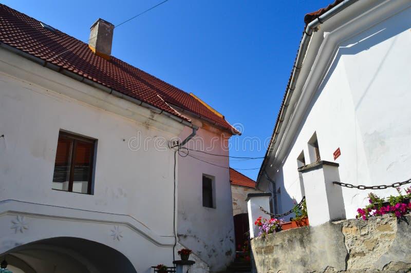 Palanok城堡在穆卡切沃, 2016年8月14日的乌克兰 免版税库存图片