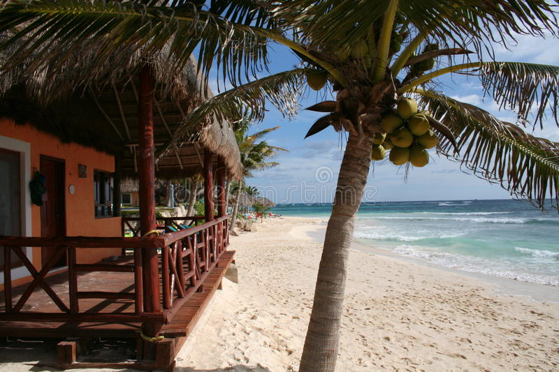 Download Palapa With Balcony In Playa Del Carmen - Mexico Stock Image - Image: 17448325