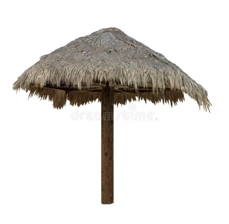 Palapa, paraguas cubierto con paja - aislado foto de archivo