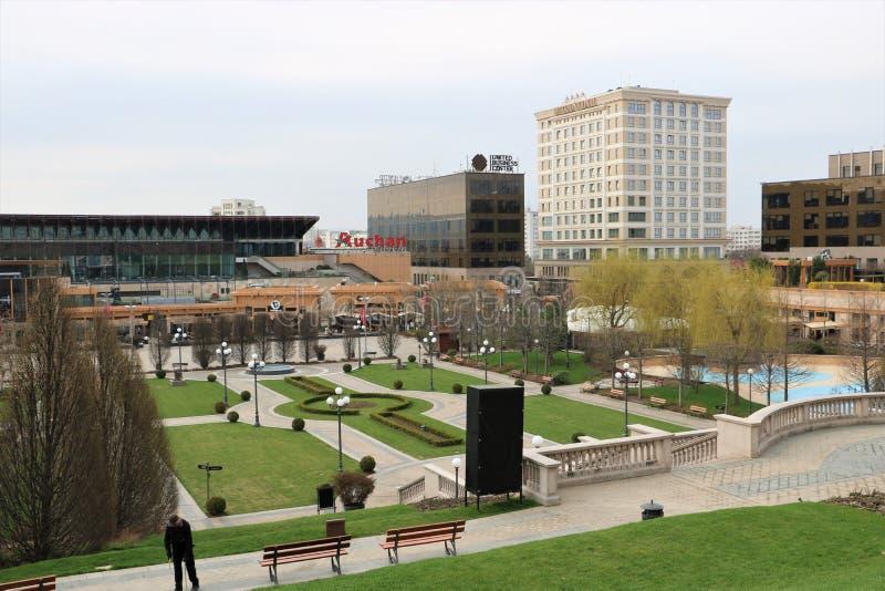 Palas kompleks w Iasi Rumunia Hotel, budynki zdjęcia royalty free