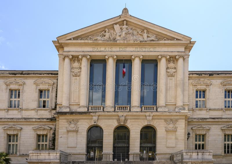 Palasi de Justice, Nice, France stock photography