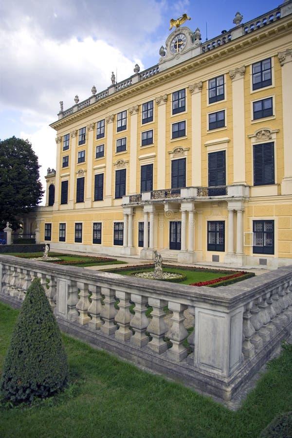 Palast Österreichs Wien Schonbrunn das Ferienhaus der barocken Balustrade Europa stockfoto