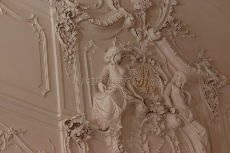 Palast de Catherine em St Petersburg em Rússia do interior foto de stock