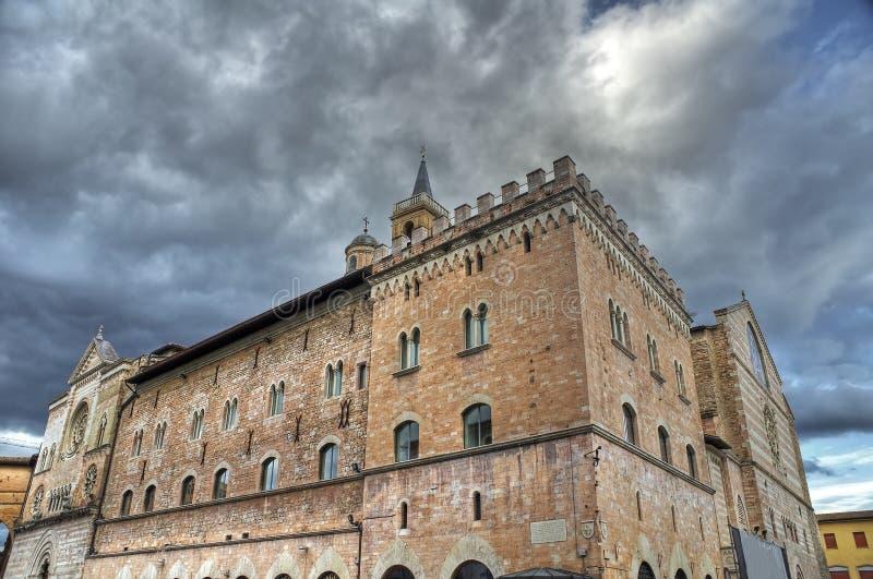 Palast der Kanone. Foligno. Umbrien. lizenzfreie stockbilder