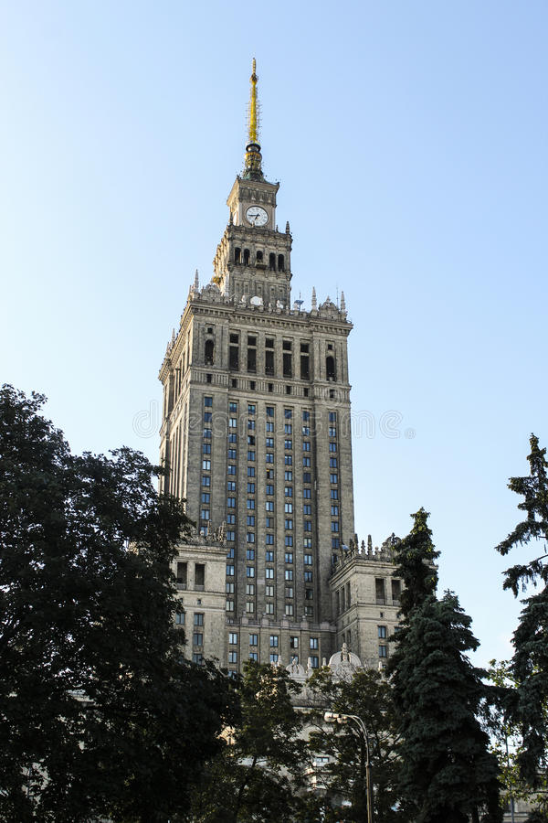Palast der Kultur stockfotografie