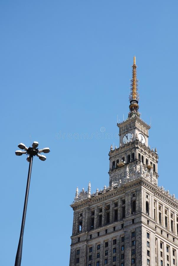 Palast der Kultur und der Wissenschaft stockfoto