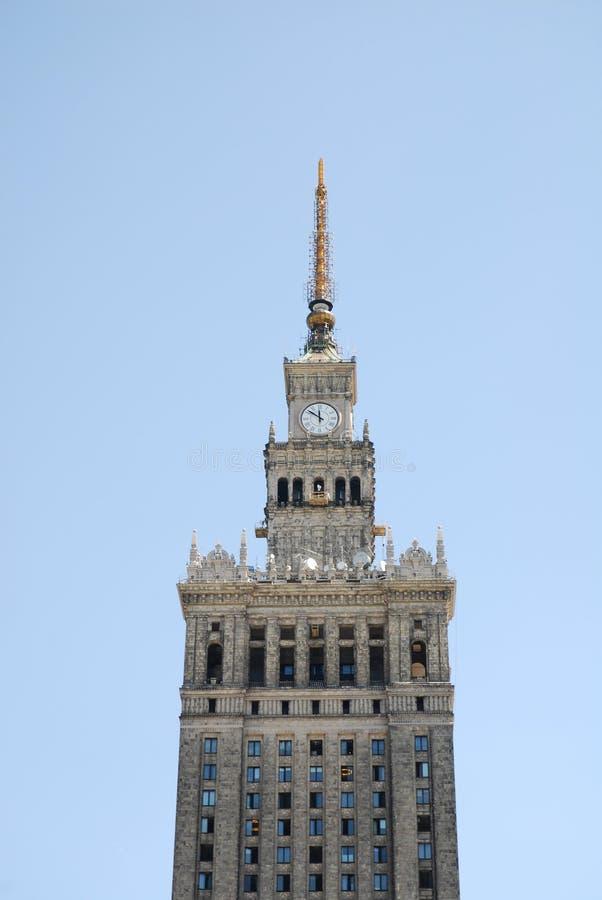 Palast der Kultur und der Wissenschaft lizenzfreie stockbilder