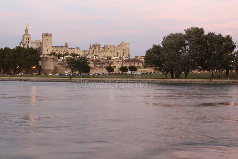 Palast der Päpste in Avignon lizenzfreie stockfotos