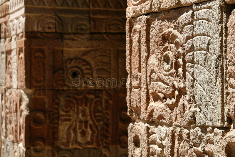 ?Palast der Quetzal-Basisrecheneinheit? Wand, Mexiko lizenzfreie stockfotografie