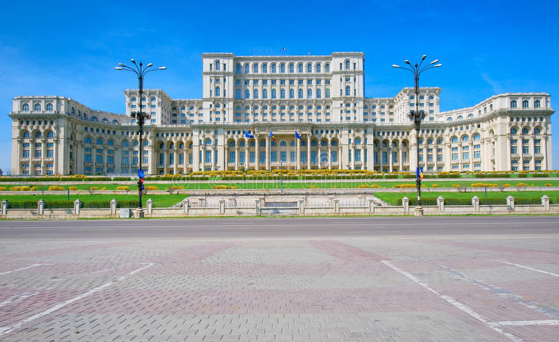 Palast des Parlaments, Bucharest stockfotos
