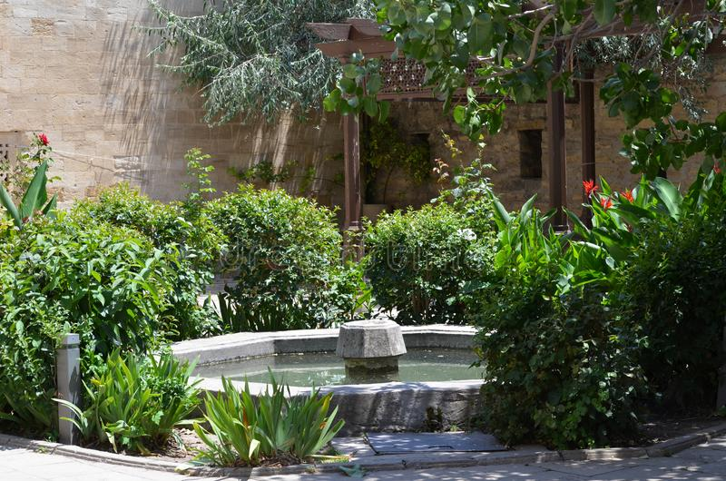 Palast des Shirvanshahs in der alten Stadt von Baku, Hauptstadt von Aserbaidschan stockfotografie
