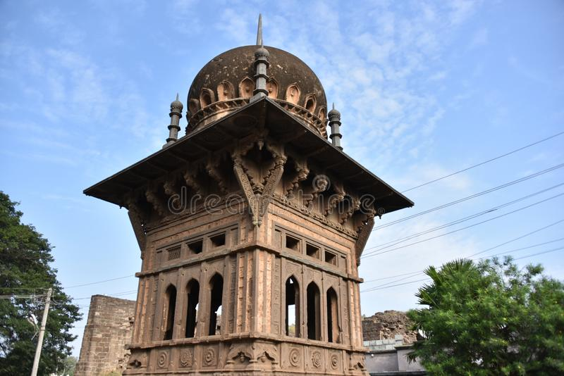 Palast Gagan Mahal, Bijapur, Karnataka, Indien lizenzfreies stockbild