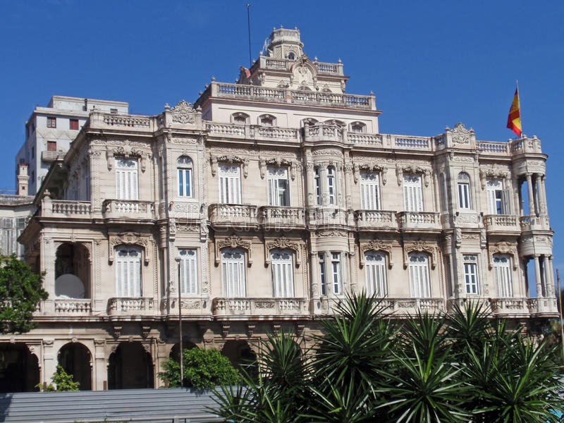 Palast in Havana, Kuba stockbild