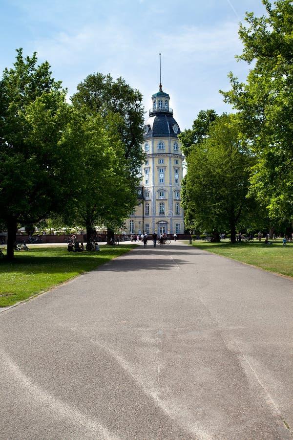 Palast in Karlsruhe Deutschland lizenzfreie stockfotografie
