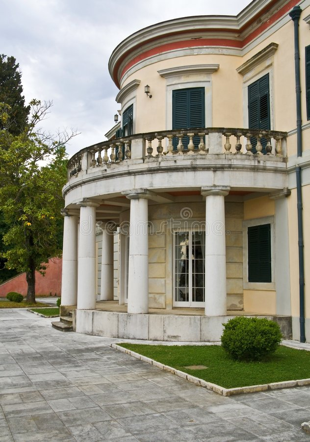 Palast in Korfu-Insel, Griechenland lizenzfreie stockbilder