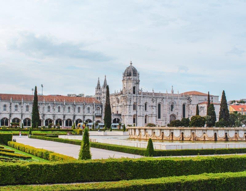 Palast in Lissabon in Portugal lizenzfreies stockbild