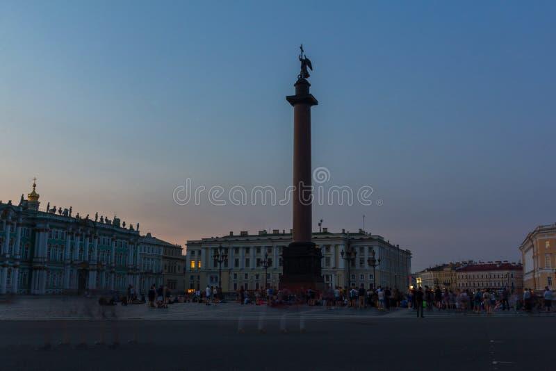 Palast-Quadrat, St Petersburg, Russland stockbilder