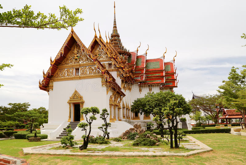 Palast Sanphet Prasat, alte Stadt, Bangkok, Thailand lizenzfreie stockfotos