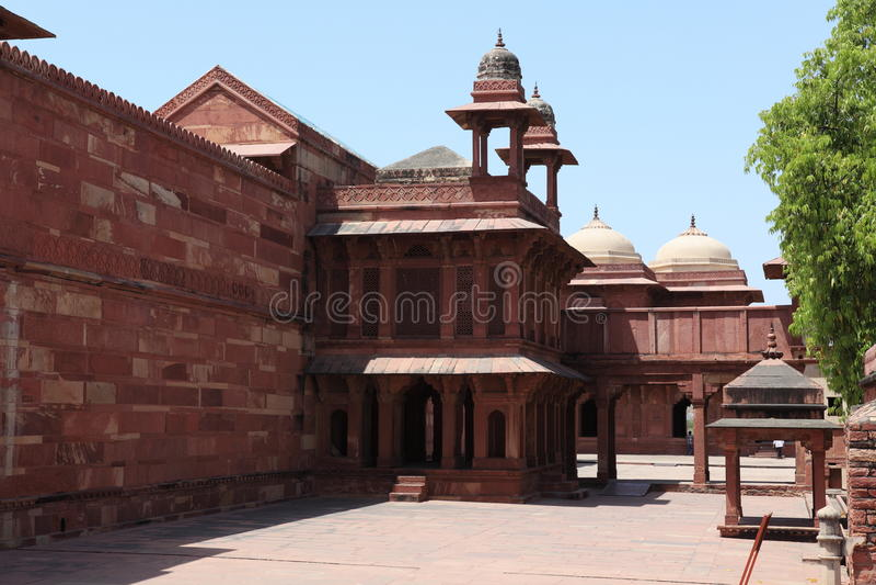 Palast von Fatehpur in Indien lizenzfreie stockbilder