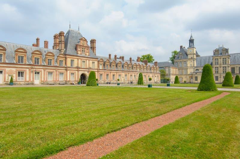 Palast von Fontainebleau in Frankreich lizenzfreie stockfotografie