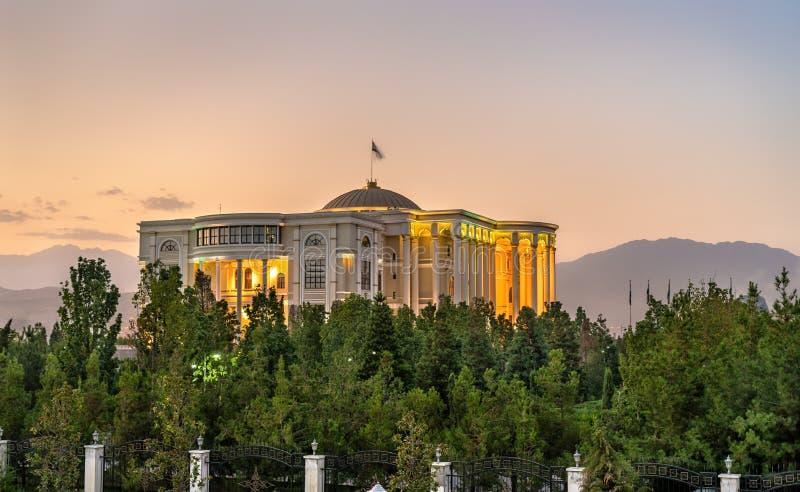Palast von Nationen, der Wohnsitz des Präsidenten von Tadschikistan, in Dushanbe stockfotografie