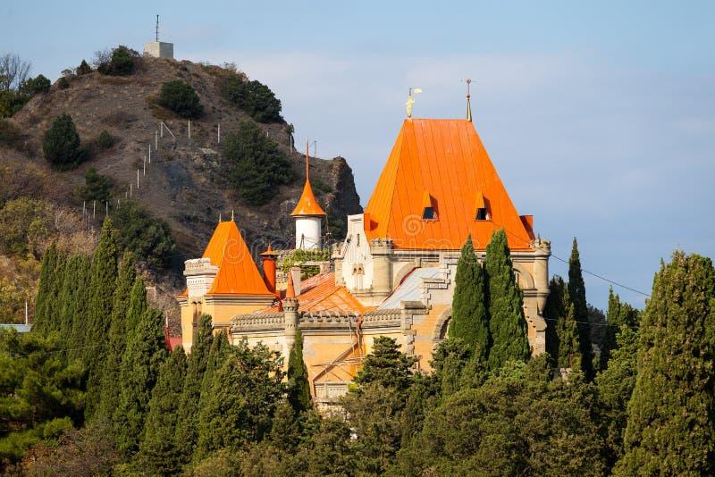 Palast von Prinzessin Gagarina in Krim stockbild