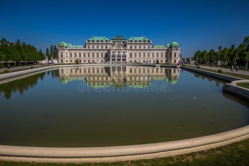 Palastgarten Belvedere in Wien, Österreich lizenzfreie stockbilder