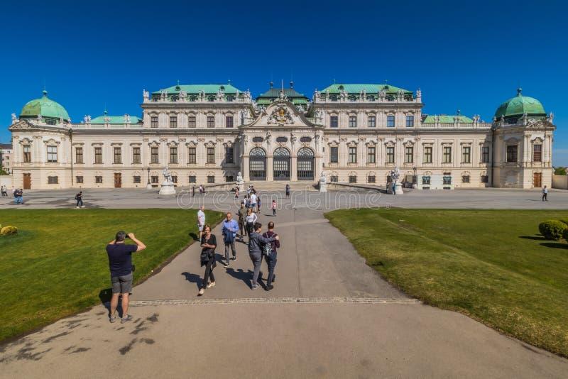 Palastgarten Belvedere in Wien, Österreich stockfotos