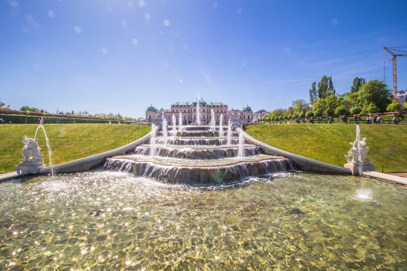 Palastgarten Belvedere in Wien, Österreich lizenzfreies stockfoto